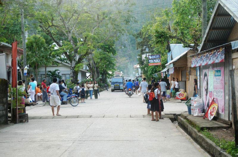 In the town of El Nido
