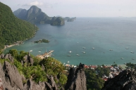 Hiking to the top in El Nido