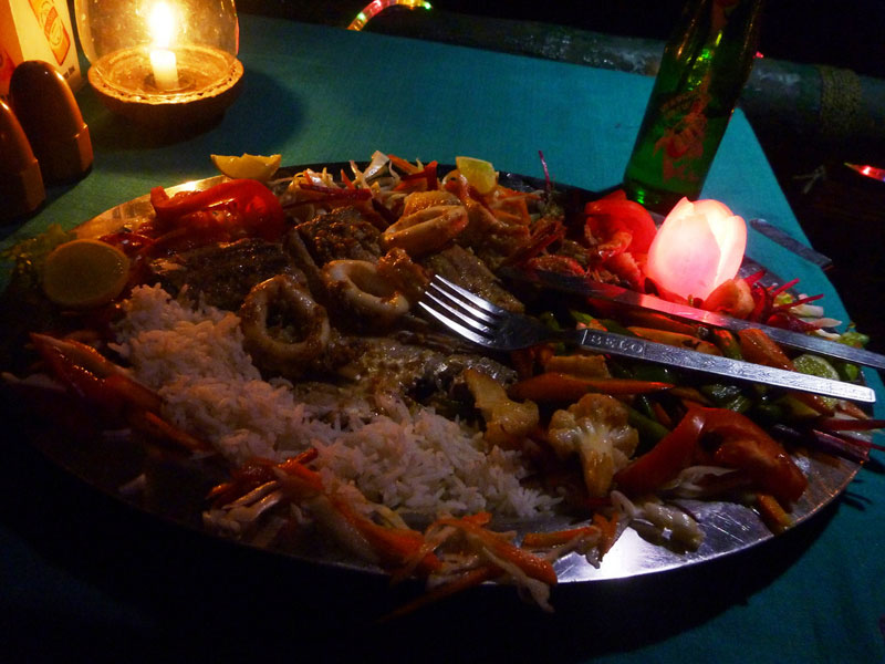 Hearty sea food mixed platter