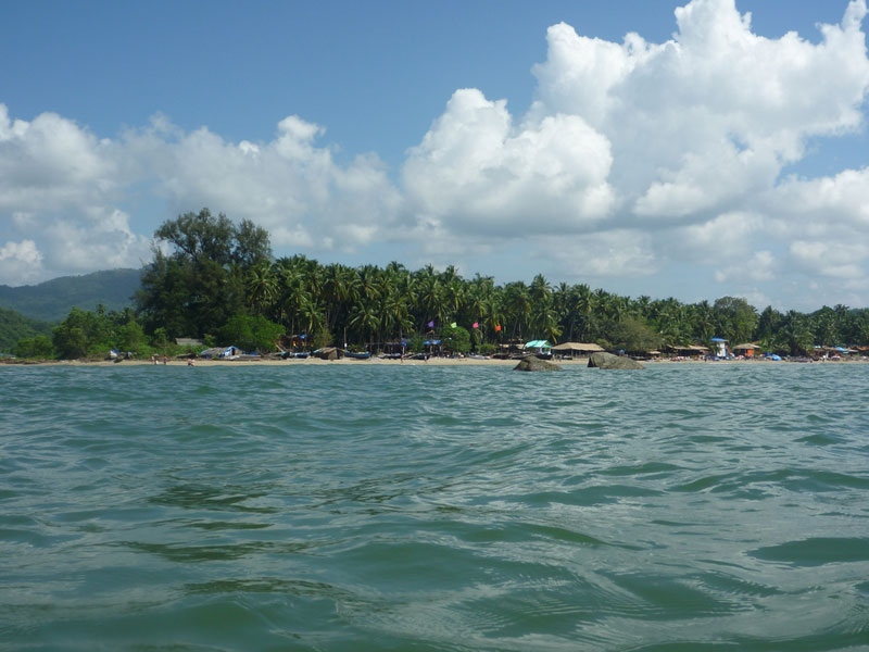 Shallow waters of Palolem