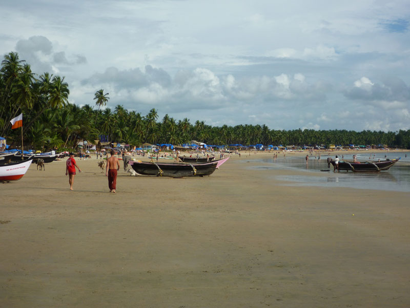 From one end of Palolem beach
