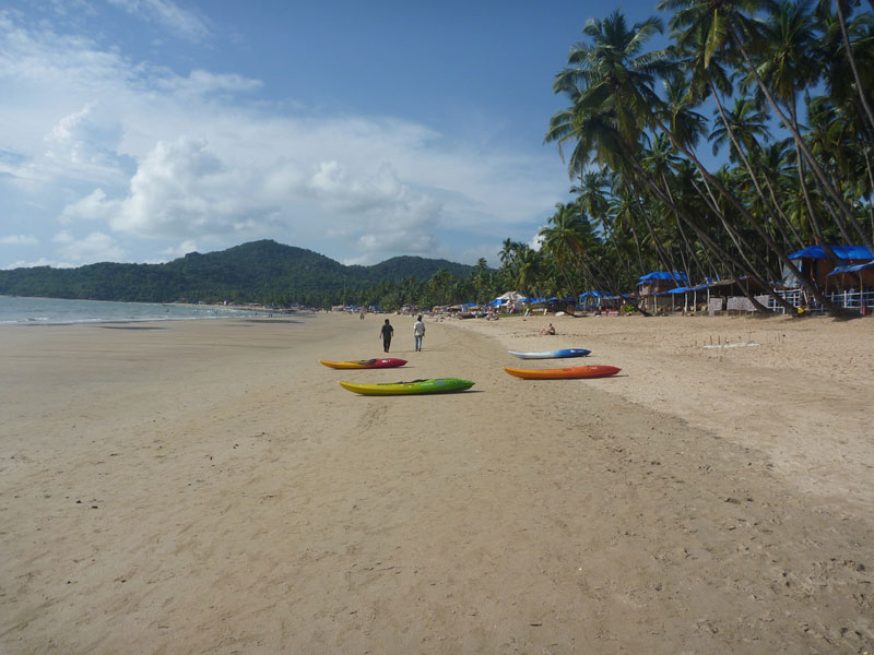 Kayaks for rent on Palolem