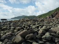 Rock formations at the tip of Palolem beach