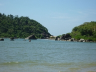 Crossing on the other side of Palolem