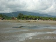 Palolem beach at low tide