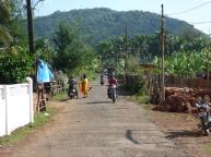 Main street of sleepy village of Agonda