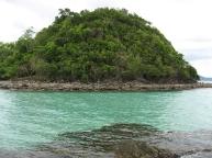 Emerald colored sea