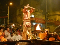 Maha Aarti ceremony by the