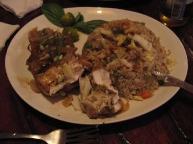 Food from Squidos restaurant in El Nido