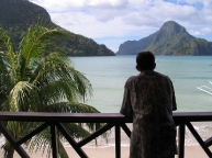 View of El Nido\'s beach from one of the resorts.