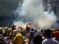 Festa Major Eagle shoots fire