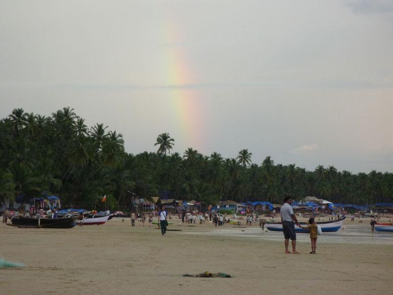 Rainbow on Palolem beach