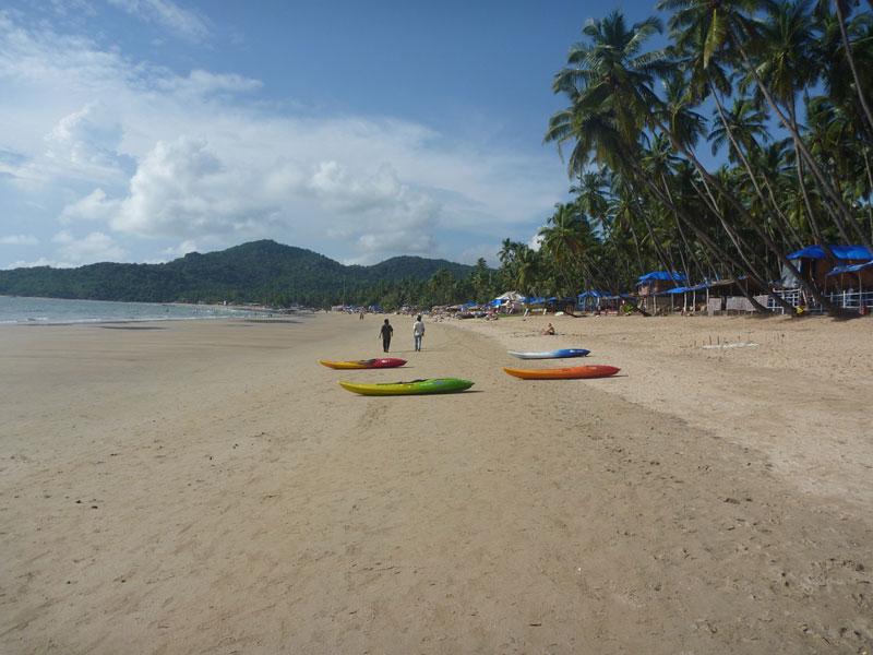 Kayaks for rent on Palolem