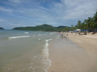 Having a stroll along on Palolem beach