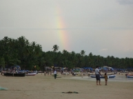 Rainbow on Palolem beach