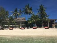 calm seas right at the beach in Ocean Vida Resort