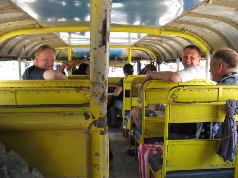 inside a Jeepney in Palawan