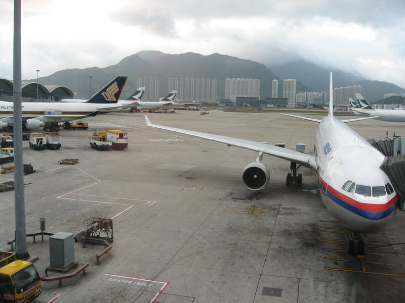 A first glimpse of Hong Kong from the airport