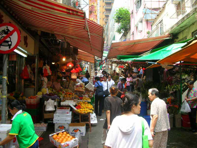 Wet market on Hong Kong island