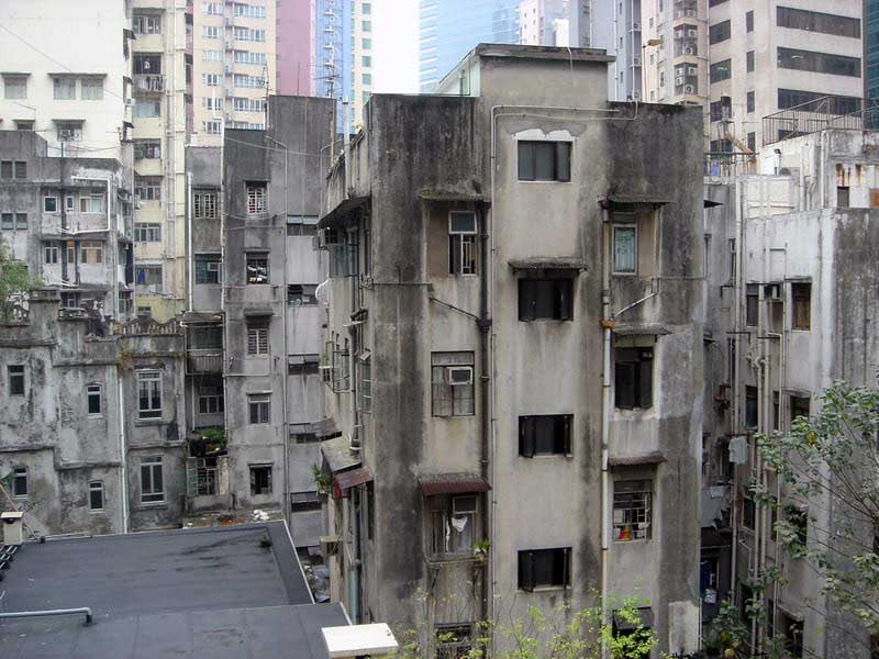 less glamorous buildings of Hong Kong
