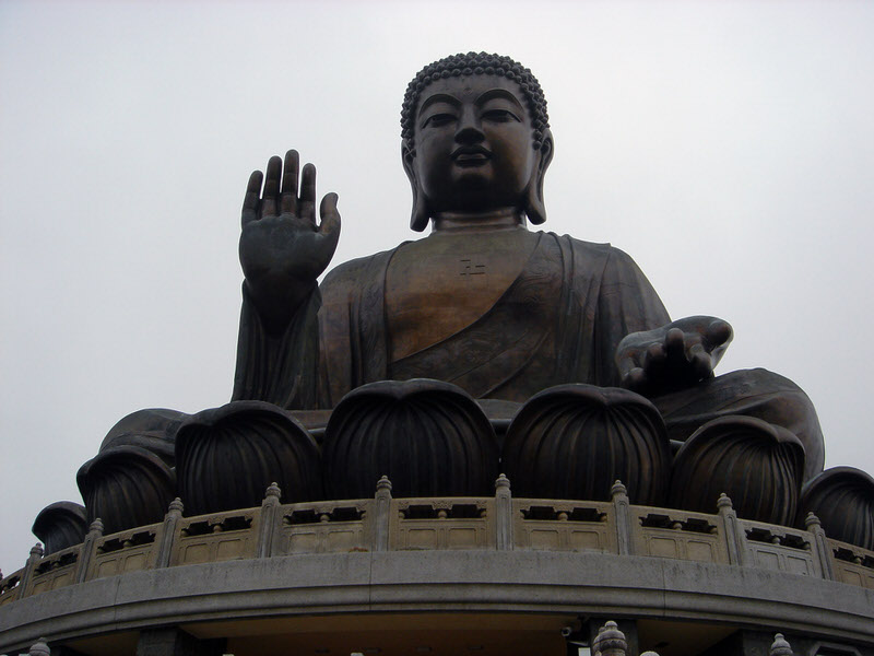 Big Buddha with swastika