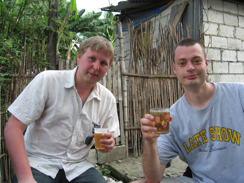 Vincent and Leif having a cold beer in San Fernando