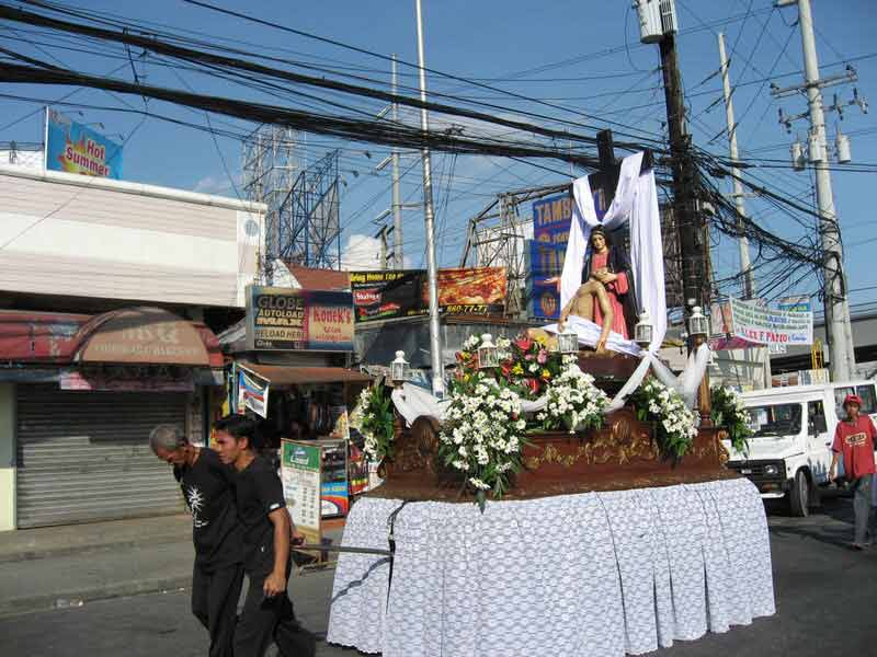 processions floats in Pampanga