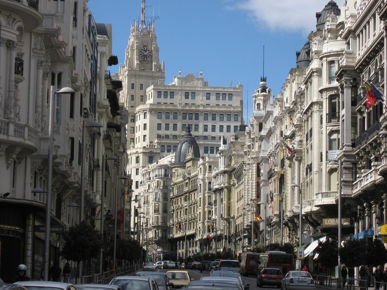 A view of the busiest streets of the city: Gran Via