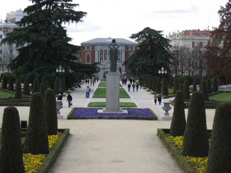 Monument in honor of Jacinto Benavente (1922 Literature Nobel Prize) in Parque Del Retiro