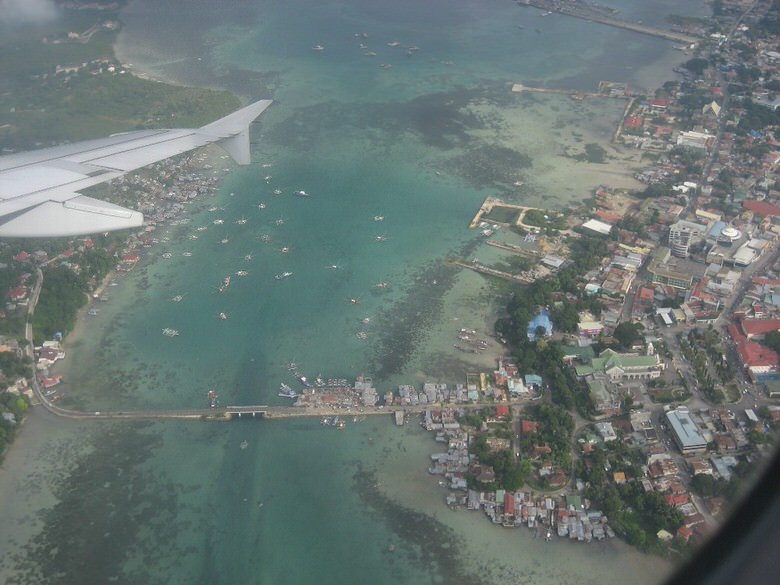 Tagbilaran view from the air sea
