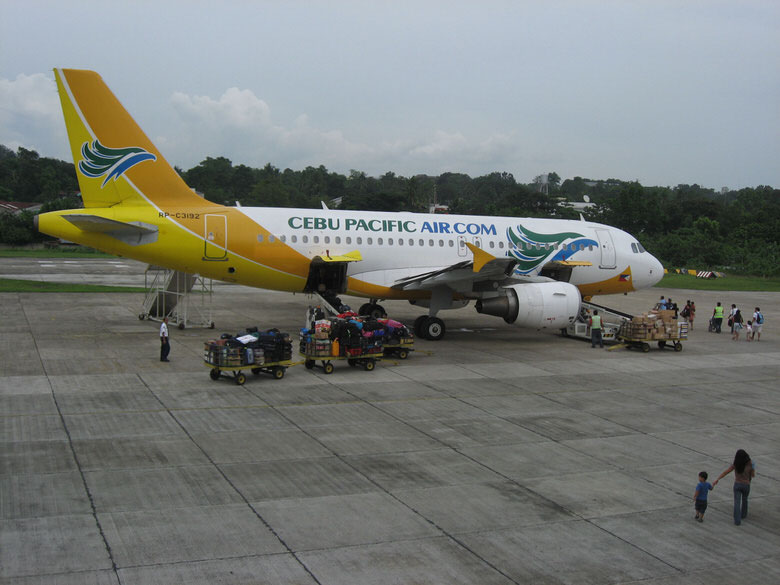 Cebu Pacific flight going back to Manila
