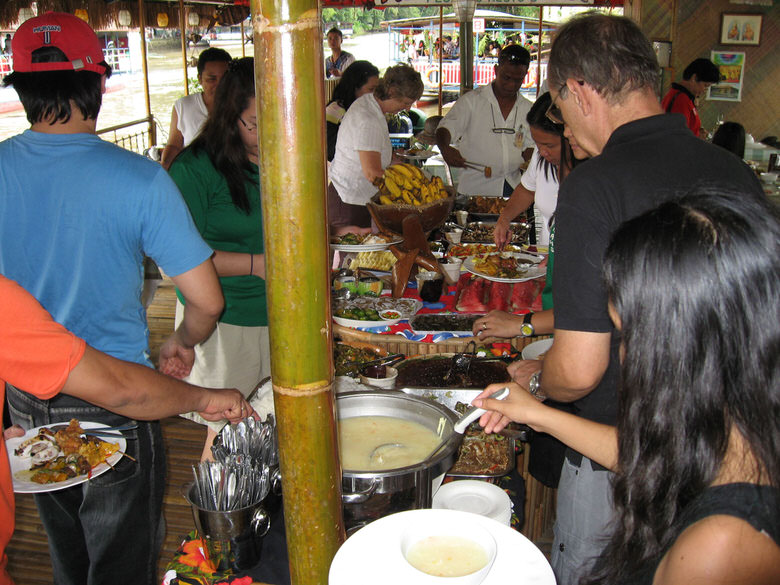 Food on lombok river cruise
