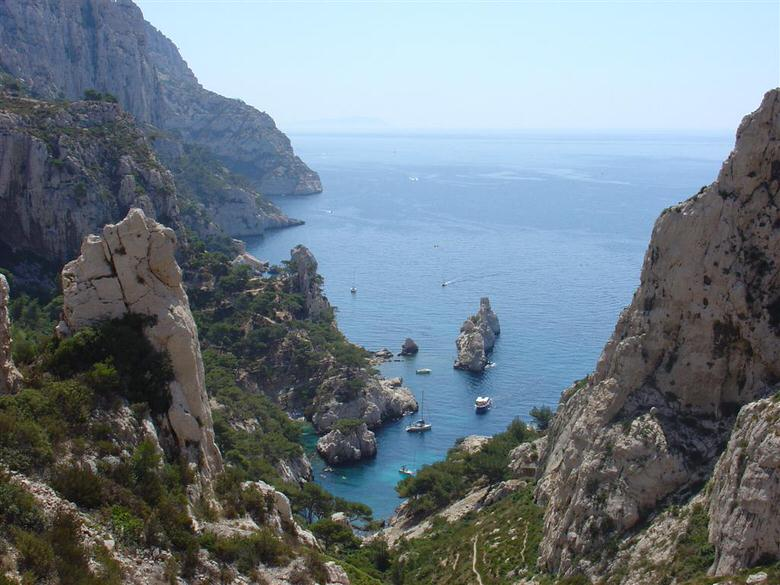 Calanques view between the cities of Marseille and Cassis