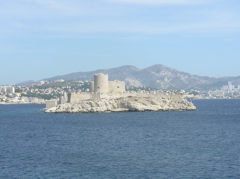 The legendary 16th century Chateau d'If just off the coastal city of Marseille