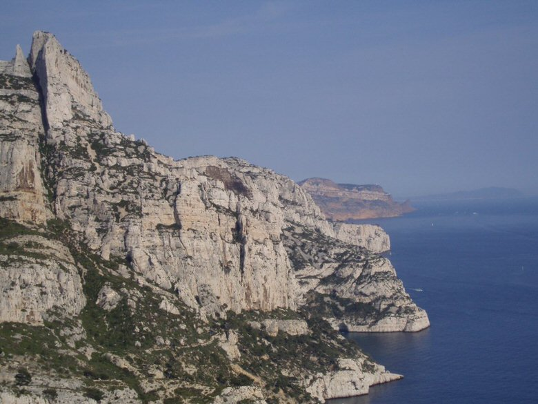 Calanques fjords and rocky cliff