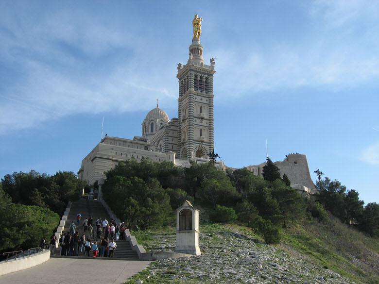 Arriving at Notre-Dame de la Garde Basilica