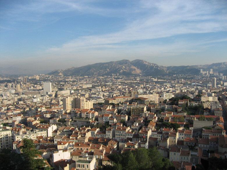 View Overlooking Marseilles from Notre-Dame de la Garde