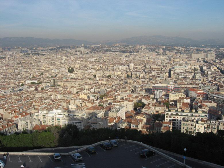 Marseilles seen from Notre-Dame de la Garde