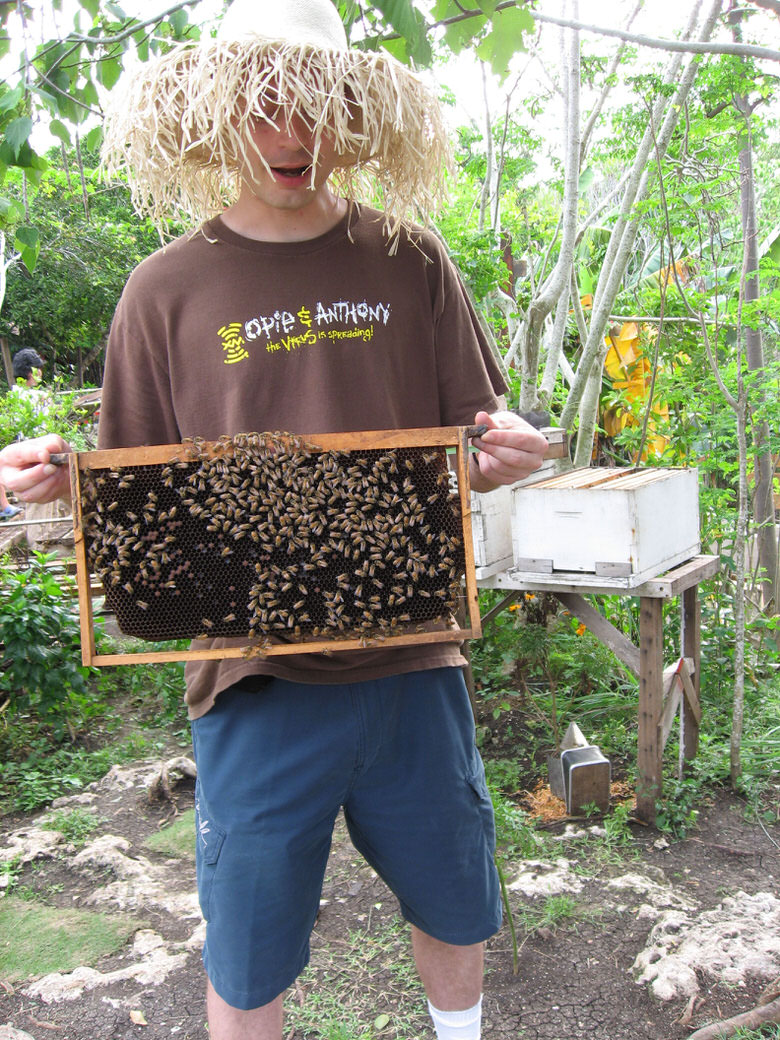Bohol Bee Farm me and a hive