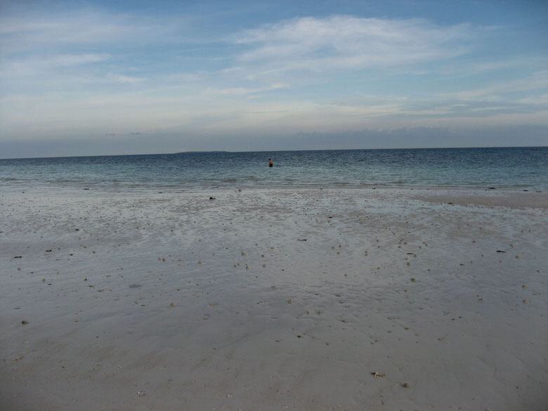Dumaluan beach, low tide  Panglao