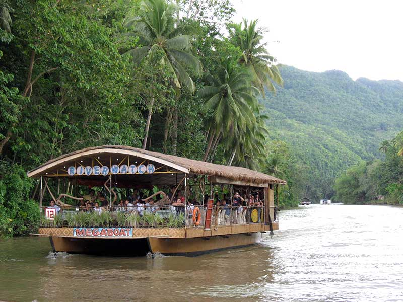 The island of Bohol here taking the Loboc river cruise