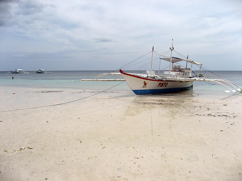 bangka boat on the beach